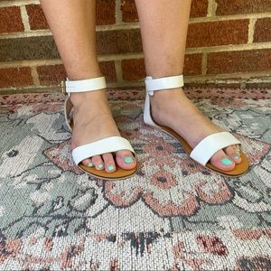 Urban Outfitters Deena & Ozzy White Sandal